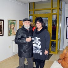 With the artist Georgi Yanbakiev