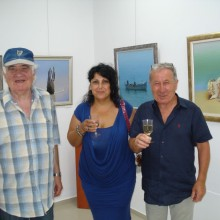 With the artist Jordan Marinov and the art critic Georgi Raikov