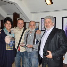 With the artists Svetlozar nedev and Nikola Moskov and the sculptor Ivailo Ivanov